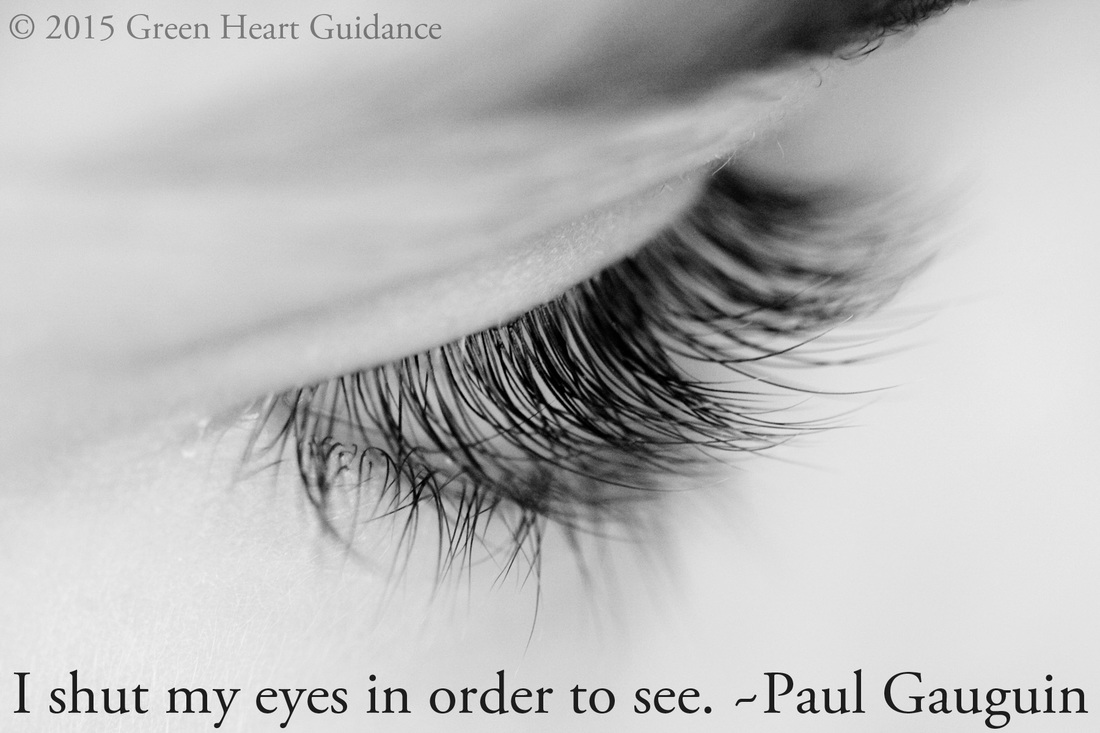 I shut my eyes in order to see. ~Paul Gauguin