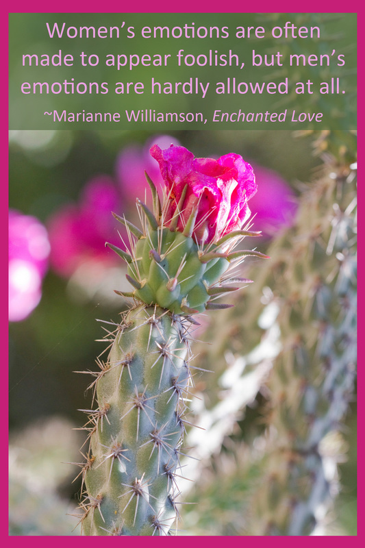 Women's emotions are often made to appear foolish, but men's emotions are hardly allowed at all. ~Marianne Williamson, Enchanted Love
