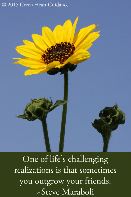 One of life's challenging realizations is that sometimes you outgrow your friends. ~Steve Maraboli