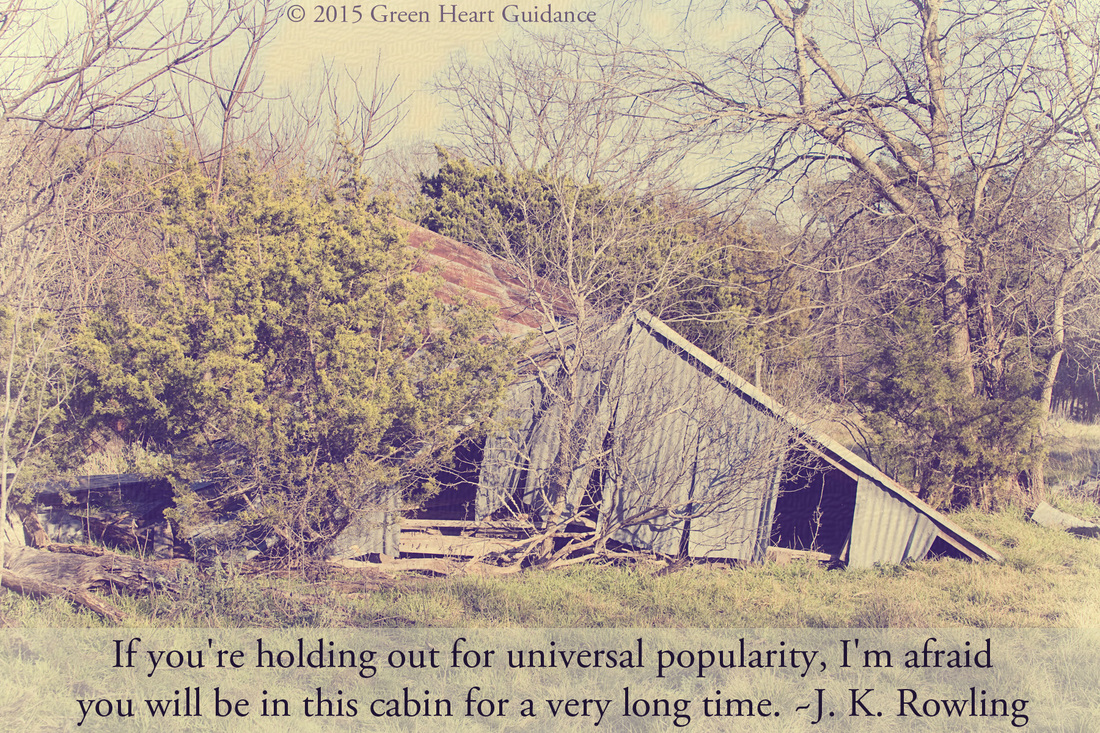 If you're holding out for universal popularity, I'm afraid you will be in this cabin for a very long time. ~J. K. Rowling